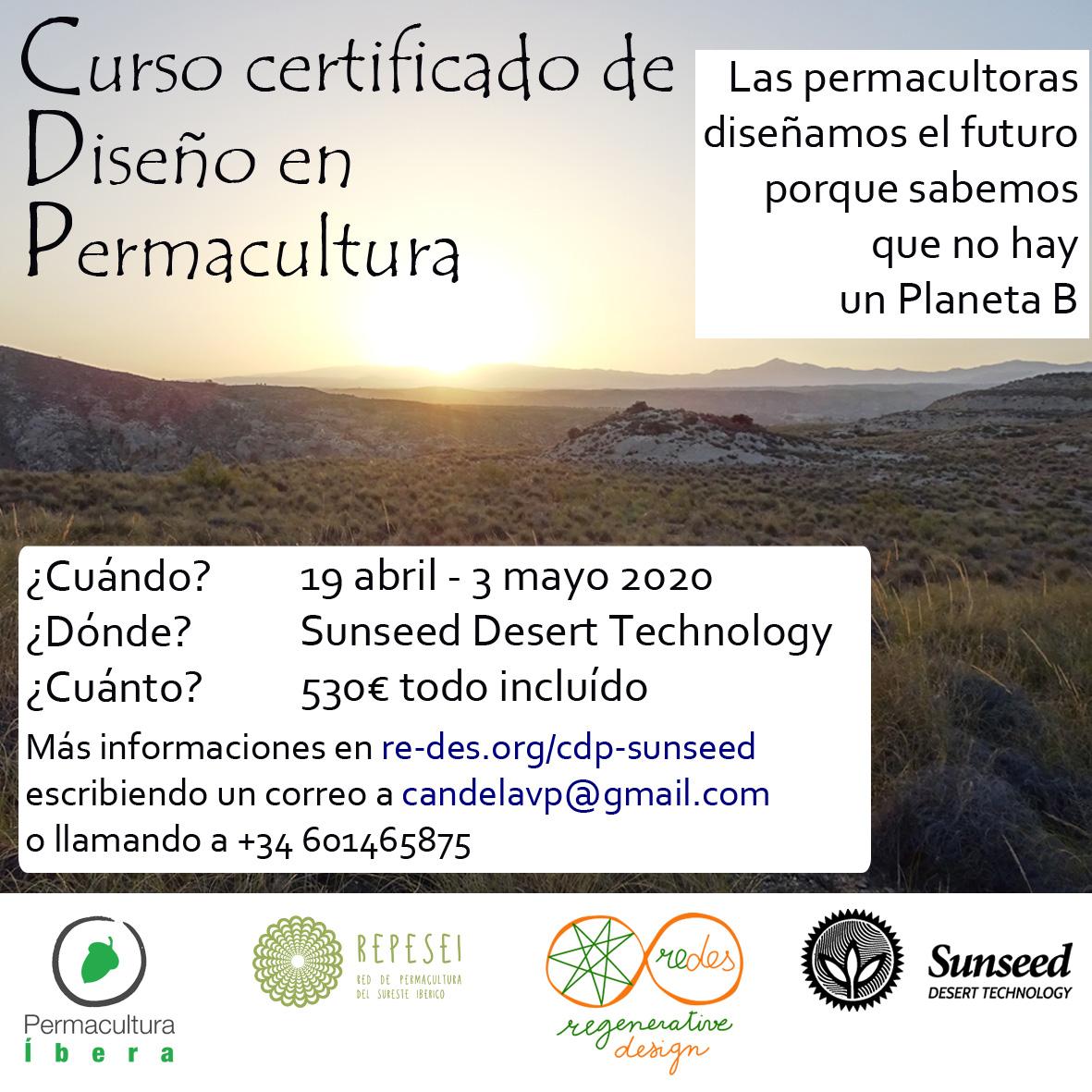 Curso certificado de Diseño en Permacultura CDP en Sunseed Desert Technology