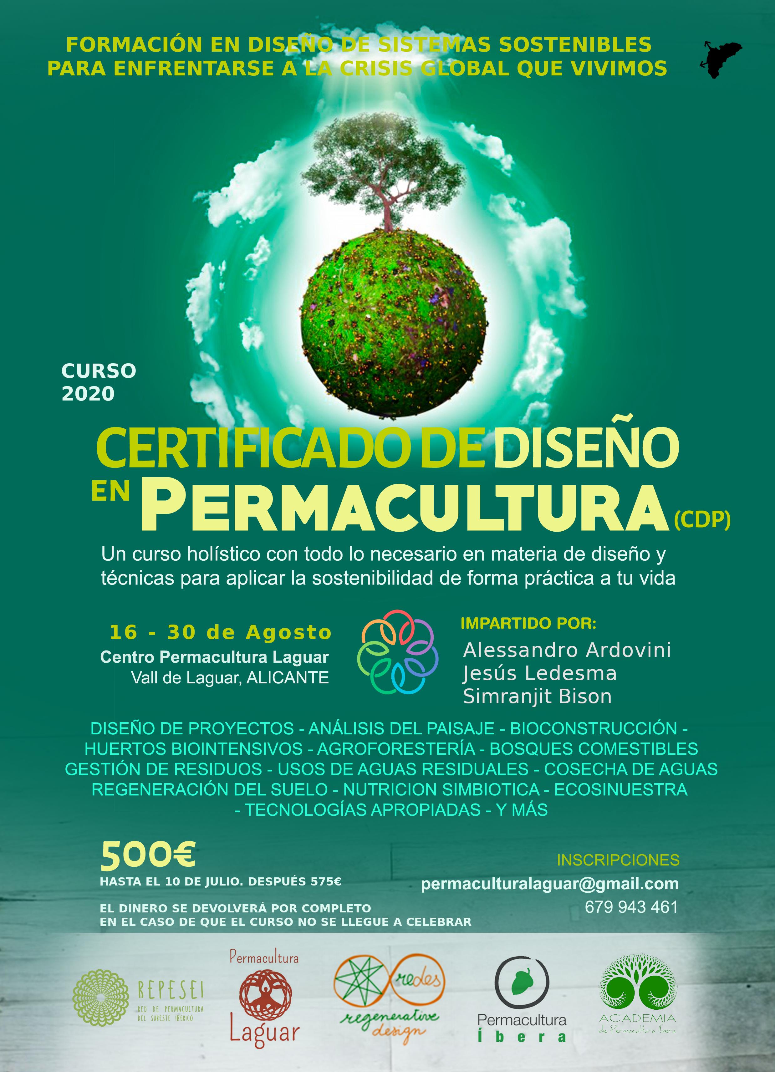 Curso certificado de Diseño en Permacultura CDP en Permacultura Laguar